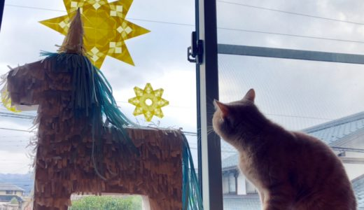 クリスマスに!ピニャータを割りました